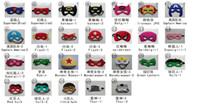 Wholesale Superhero masks Batman Spiderman Hulk Thor captain america masks styles eyepatches Bithday Halloween Party Supplies for Kids
