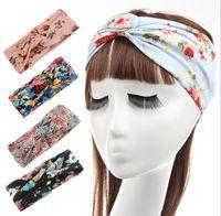Wholesale of New hot sale women s print flower headbands Bohemia headdress hair accessories autumn