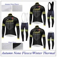 Wholesale Cycling Jerseys Autumn Wither Thermal Fleece none Fleece Bicycle wear Long Sleeve Clothing Bib Pants Bike Wear Padded Trousers