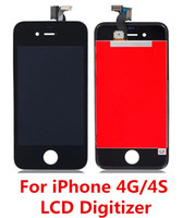 La Asamblea del conjunto completo delantero de la pantalla táctil del digitizador + LCD del precio bajo para el iPhone 4 4G 4S G / M CDMA libera el envío