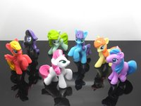 wholesale action figures - Lovely Multicolorl My Little Pony Mini PVC Action Figures Model Toys Dolls Girls Toys Gifts CM set