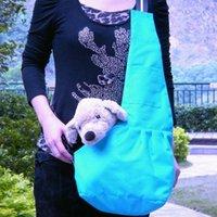 Wholesale oxford fabric Pet Carrier Bag Single Shoulder Bag Pet kangaroo bag blue