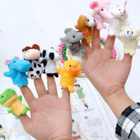 Wholesale Finger Puppets Plush Toys Story Talking Props Different Animals Set Toys For Baby Children