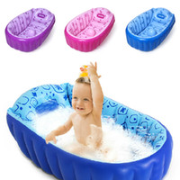 bathing basin - Retail Inflatable baby bathtub newborns bathing tub Eco friendly portable infant bath basin cm children christmas gifts HX