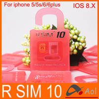 Wholesale Newest Original R SIM rsim R SIM rsim10 Unlock Card for iphone S C S plus iOS6 X X Support Sprint AT T T mobile Cricket