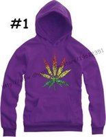 Cheap Hot sale cotton WEED LEAF hoodies skateboard winter autumn sweatshirts maple leaf thick pullover outerwear