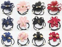 Wholesale 2015 Summer Style Korean Elegant Girl Crystal Elastic more colors and more style Hair Band Rope Scrunchie