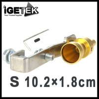 Wholesale Brand New Discount Car Vehicle Turbo Sound Whistle Exhaust Pipe Tailpipe Blow off Valve Aluminum Size S Golden