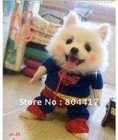Wholesale Hot sale New Fashion1Pcs Cotton Summer Pet Products Superman Dog Clothes Coat Vest And Retail