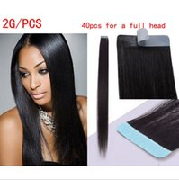 best skin weft - Best selling remy human hair extensions g pack PU skin weft tape hair extensions DHL