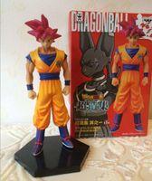 Wholesale 2016 inches cm Dragon Ball Z Battle of the Gods Super Saiyan God Son Goku PVC Action Figure Model Toy Boxed
