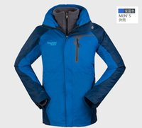 Wholesale New Spring amp Autumn amp Winter men outdoor skiing hiking fishing climbing twinset jacket waterproof windproof outerware F033
