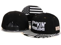 Cheap Wholesale-2015 Hot FUCKING' problems Snapback Caps with American Flag hats for men- women snap backs baseball fashion hip hop white