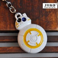 bb photos - 500pcs Star Wars keychains airship Falcon Metal Alloy Sphero BB keychains wedding gift for new style ship via FedEx