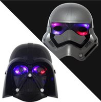 Wholesale Hot Sale LED Lighting Masks Star Wars Force Awakens Darth Vader Empire Storm Clone Party Mask Star Wars Cosplay
