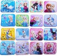Wholesale 5pcs fashion new frozen Children s Face towel Pure cotton towel cartoon Handkerchief size cm
