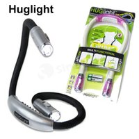 Wholesale Flexible Neck Light Huglight LED Reading Book Lights Handsfree New Multi functional Hug Light Flashlight Indoor Lighting Factory Price FEDEX