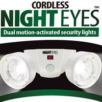 Wholesale DHL Cordless Battery Operated Motion Activated Automatical Night Eyes Dual Safety Security Lights White Black