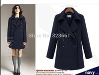 Cheap 2014 women's winter Long Wool clothing Woollen Coat woolen overcoat british style abrigos mujer casual manteau femme jakets