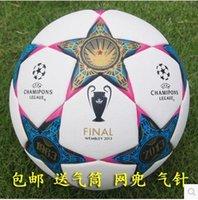 Wholesale New European champion league soccers Anti slip granules Soccer ball A red star football PU size