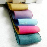 double ribbon - 38 mm Wide Double Color Chameleon Design Iridescence Silk Organza Ribbon DIY Craft Bow Hair Accessory Polyester Fabrics m