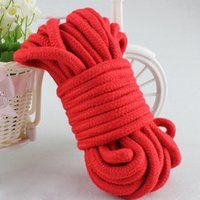 Wholesale 4 M Soft Cotton Rope Fetish Alternative Slave Sex Restraint Bondage Ropes Harness Adult Flirting Game Toys for Couples YQ5012 salebags