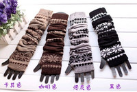 Wholesale Hot Sale winter Fashion Girls Winter Kintted Gloves for Winter Thick Warming Cute Gloves Fur Wool Gloves Make By Hand High Quality