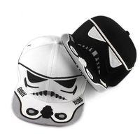 Wholesale black and white Star Wars Snapback Caps Cool Strapback Letter Baseball Cap Hip hop Hats For Men Women
