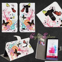 giraffe print - For LG G3 PU Leather Folding Walle Case Cover Flower Print Giraffe Butterfly With Credit ID Card Slots Filp Stand for LG Optimus G3 D850