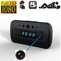 Wholesale HD P SPY Hidden Camera Clock Remote Night Vision Motion Detection Mini DV