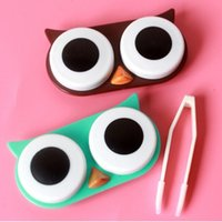 accessories hard case box - New Cute Owl Desin Travel Contact Lense Case Box Container Storage Soak Kit Hard Holder Professional Plastic Eyewear Accessories