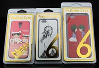 Wholesale New Style phone case empty Retail box packaging package boxes Blister paper card for iphone S plus Samsung S6 S5 note