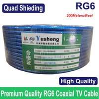 Wholesale High quality RG6 cable coax coaxial TV cable Quad Shielding M ft Fast delivery