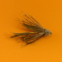 bass brown - 10PCS Brown Color Deer Hair Gold Body Muddler Minnow Fly Bass Fishing Lure Steamers Trout Flies