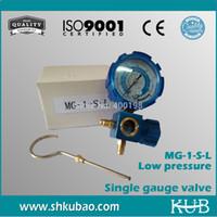 Wholesale Refrigerant pressure gauge with Sight Glass refrigerant table psi kpa Low pressure gauge