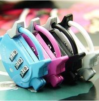 Wholesale new pig type printing combination lock Cartoon combination padlock alloy padlock luggage locks
