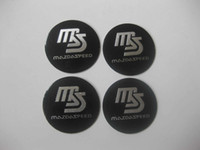 Wholesale 4Pcs MS MazdaSpeed Aluminum Alloy Car Wheel Center Hub Caps Sticker Emblem