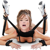 adult women sex toys - restraints body harness wrist ankle hand cuffs restraint with pillow Fetish Slave bondage set Leg open Adult Sex Toy for women