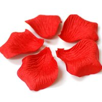 Wholesale 300pcs Wedding Valentine simulation rose petals artificial flowers for decoration with a romantic candle placed Figure
