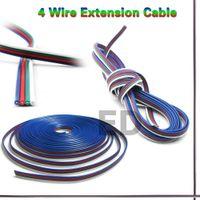 al por mayor cables de módulo led-10M/lotes de 4 pines LED RGB extensión plana por cable cable cable para 5050/3528 LED RGB Tira de luz RGB y módulos etc entrega sin costo, dandys