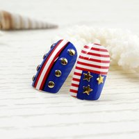 american flag patch - High quality New design Nail Art American Flag false nail fake fingernails nail patch