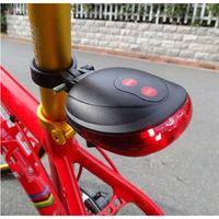 Wholesale HOT Laser Beam LED Cycling Bike Bicycle Rear Tail Safety Warning Flashing Light