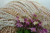 beaded nacklace - mm rice shap pearl nacklace Freshwater pearl Holiday to send mother girlfriend