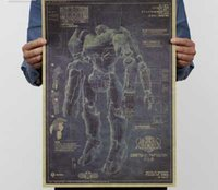 american drawings - Fierce battle Pacific rim mecha hunter fighters design drawings movie poster vintage poster posters adornment wall stickers