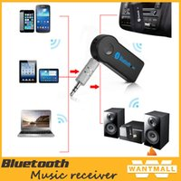 Wholesale New arrival hands free Wireless Audio Car Bluetooth EDUP V Transmitter Stereo Music Receiver Black with retail box