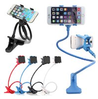 Wholesale 360 Degree Colors Universal lazy bracket Kit Bed stand Desktop Car Stand Mount Holder sucker for iphone S plus S5 S4 S3