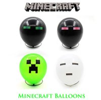 Wholesale 100pieces g More Thick Minecraft Balloons Creeper Balloon for Birthday Party Decoration