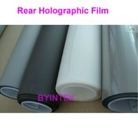 Wholesale transparent holographic Hologram rear adhesive film projection D screen film for window shop display exhibition