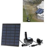 Wholesale Solar Power Pool Water Pump Submersible For Water Cycle Pond Rockery Fountain Garden Plants Watering Kit