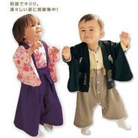 baby kimono romper - Autumn Baby Boys Girls Kimonos Flower Cardigan Coat T shirt One Piece Dress Romper Kids Piece Suit Infant Toddlers Clothing Suit Garments